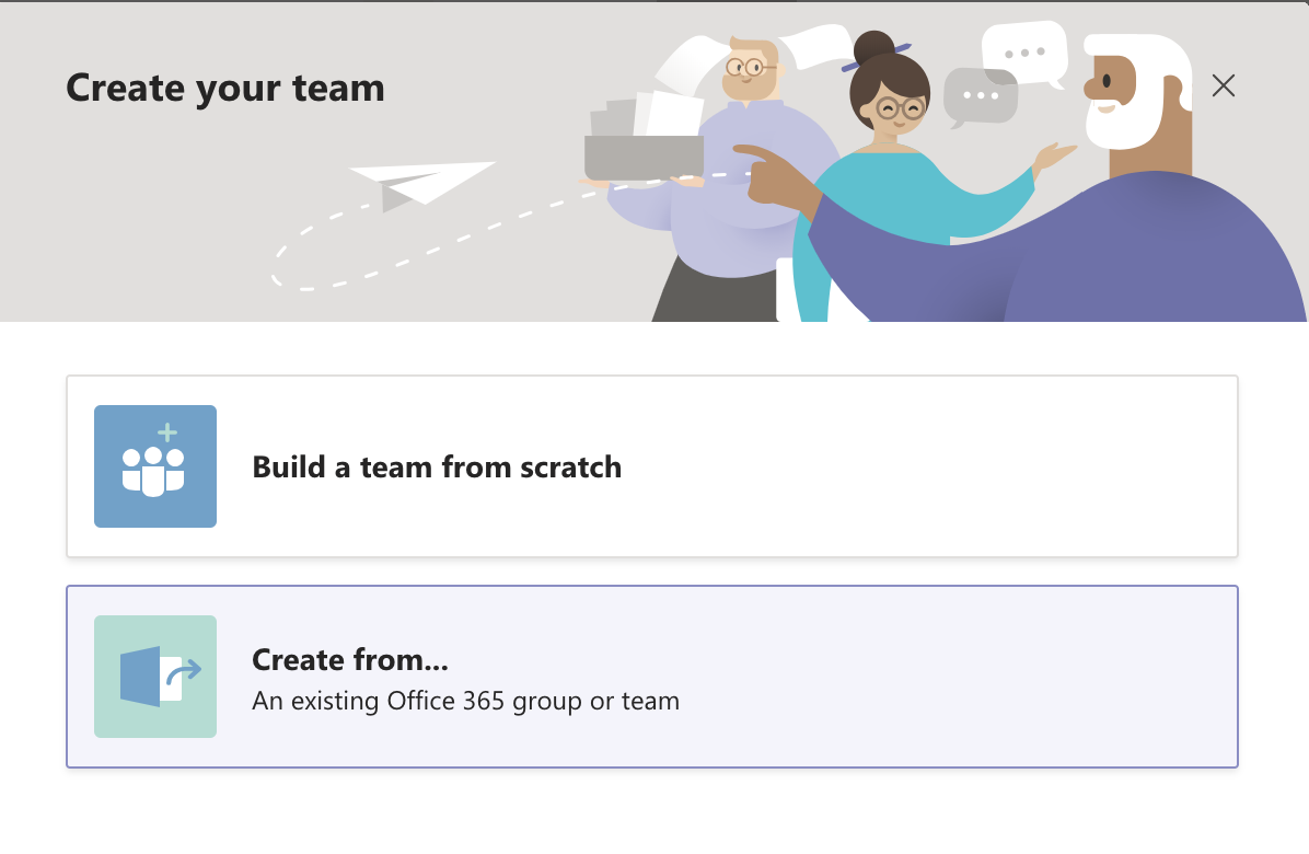 Create your Team in MS Teams