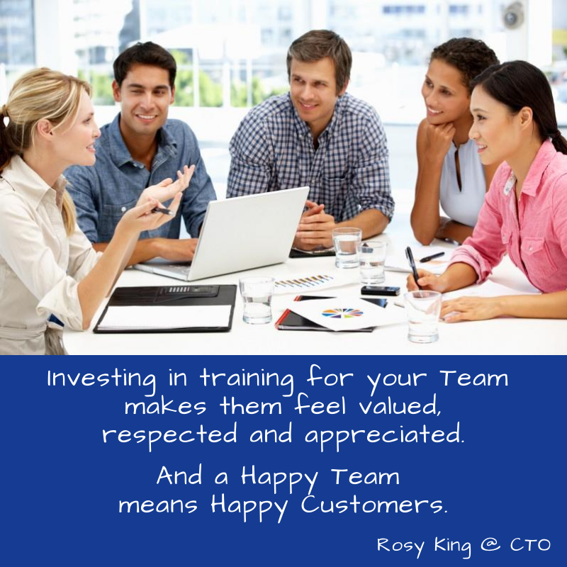 Invest in training for your Team, with CTO