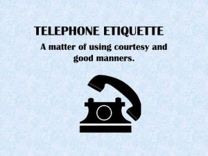 Telephone Courtesy & Etiquette Training with CTO